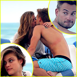 Nina Agdal Kisses Fellow Model Reid Heidenry at the Beach!