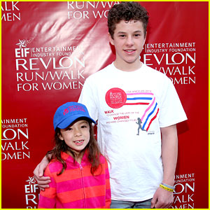 Nolan Gould & Aubrey Anderson-Emmons Attend Revlon's Run Walk After 'Modern Family' Renewal
