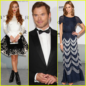Riley Keough & Kellan Lutz Dress Up for amfAR Gala 2014!