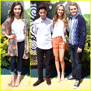 Rowan Blanchard Reunites with Former 'GMW' Brother Teo Halm at 'Legends of Oz' Premiere