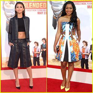 Zendaya & Keke Palmer Check Out The 'Blended' Premiere