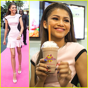 Zendaya Opens Millions of Milkshakes in Shanghai, China!