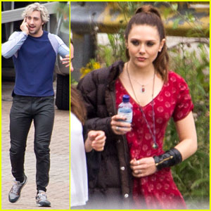 Elizabeth Olsen Gets Back to Work on 'Avengers' with Aaron Taylor-Johnson