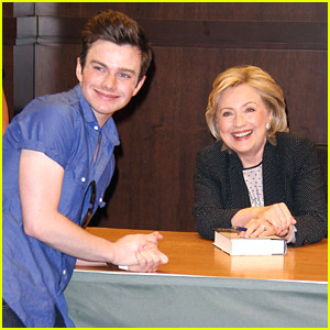 Chris Colfer Surprises Hillary Rodham Clinton At Her Book Signing