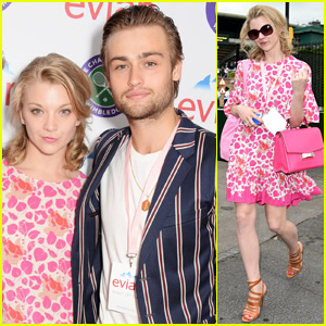 Douglas Booth Hangs with Natalie Dormer at Evian's Wimbledon Lounge