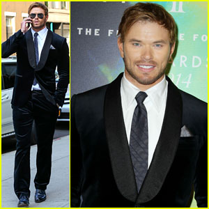 Kellan Lutz Looks Like He Smells Great at the Fragrance Foundation Awards 2014!