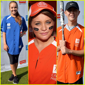 Danielle Bradbery & Lauren Alaina Play Ball for City of Hope!