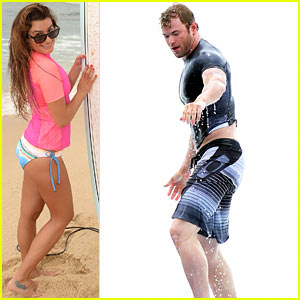 Lea Michele & Kellan Lutz Become Surf Pros at Oakley's Learn to Ride