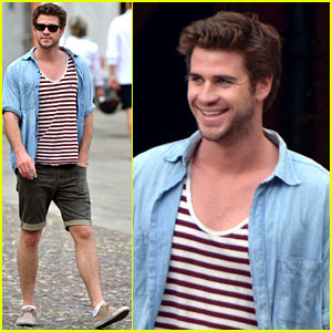 Liam Hemsworth Looks Well Rested on Vacation After Wrapping 'Hunger Games'