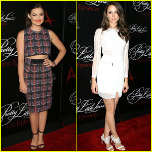 Lucy Hale & Troian Bellisario Show Off Their Style at the 'Pretty Little Liars' 100th Episode Celebration!