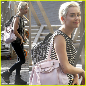 Miley Cyrus Arrives in Amsterdam Before Last 'Bangerz' European Tour Stop!