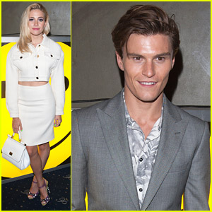 Cuteness Overload: Oliver Cheshire & Pixie Lott Attend Jeremy Scott for Moschino Party