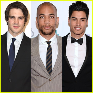 'Vampire Diaries' Reunion! Steven R. McQueen & Kendrick Sampson Attend Thirst Gala 2014!