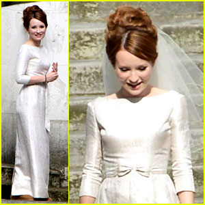 Emily Browning Makes a Beautiful Bride for Tom Hardy!