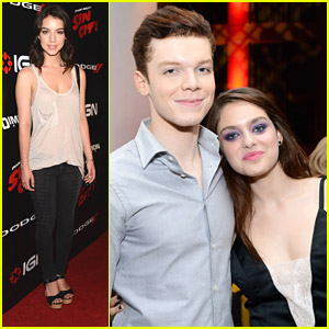 'The Giver' Stars Cameron Monaghan & Odeya Rush Head To 'Sin City' Game Launch & Party at Comic-Con 2014