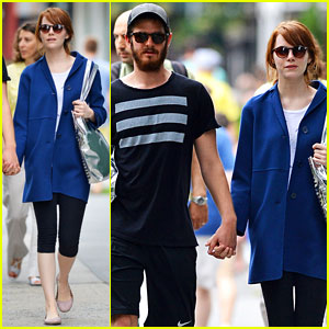 Emma Stone & Andrew Garfield Stay Healthy for a Day Out in NYC!