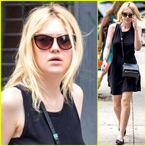 Dakota Fanning Takes a Walk in NYC!