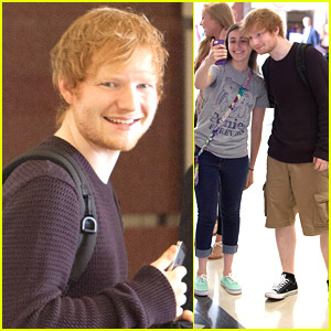 Ed Sheeran Keeps Fans Smiling with Selfies