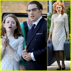 Emily Browning & Tom Hardy Pack Up During 'Legend' Filming