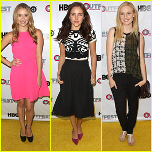 Greer Grammer & Haley Ramm Hit Up Outfest 2014 Opening Night Gala