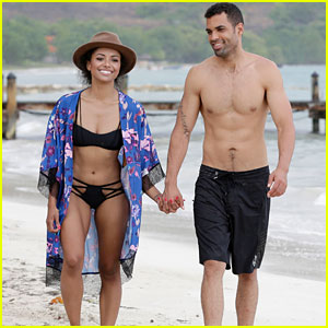 Kat Graham & Cottrell Guidry Take a Romantic Stroll on the Beach in Jamaica!