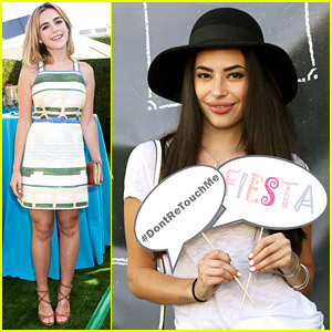 Kiernan Shipka & Chloe Bridges Kick Off Summer at JJ's Summer Fiesta 2014!