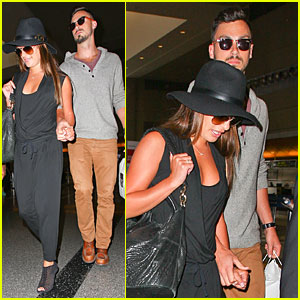 Lea Michele & New Boyfriend Matthew Paetz Hold Hands at LAX