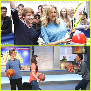 Piper Curda, Austin North & Calum Worthy 'TRYIt' With GMA Anchors Robin Roberts & Lara Spencer