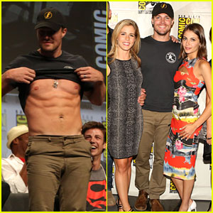 Stephen Amell Shows Off His Abs During Comic-Con - Watch Here!