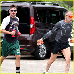 Zac Efron Does a Cardio Workout wit