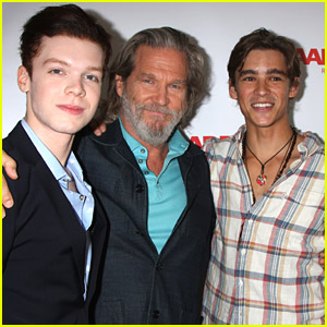 'The Giver' Stars Brenton Thwaites & Cameron Monaghan Celebrate Jeff Bridges' AARP Magazine Cover