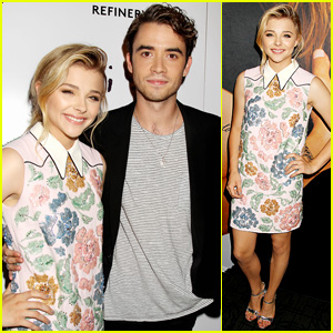 Chloe Moretz & Jamie Blackley Premiere 'If I Stay' in the Big Apple