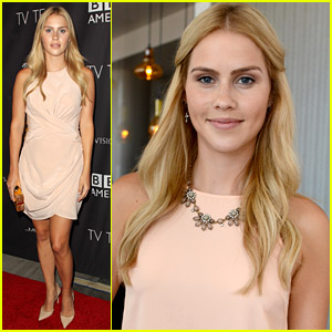 Claire Holt Is Peach-y Keen at BAFTA Los Angeles Tea Ahead of Emmys 2014