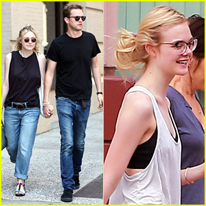 Dakota Fanning & Jamie Strachan Show PDA While Out Shopping; Elle Fanning Hits Up Dance Class