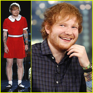 Ed Sheeran Wears Dress For Little Orphan Annie Skit on 'Kimmel' - Watch It Here!