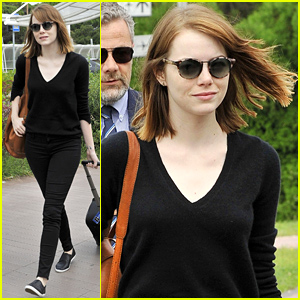 Emma Stone Arrives in Italy for the Venice Film Festival!