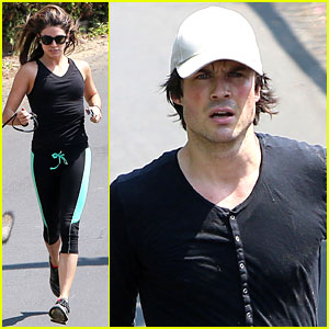 Ian Somerhalder & Nikki Reed Go Hiking with Their Dogs!