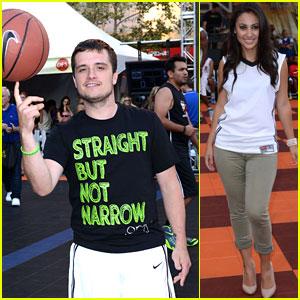 Josh Hutcherson Plays Basketball for Straight But Not Narrow!