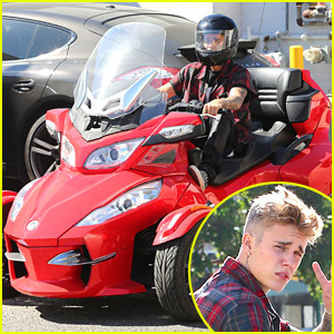 Justin Bieber Takes Spyder Vehicle For A Spin After Teasing New Music