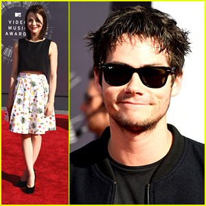 Dylan O'Brien Shows Off Scruff at MTV VMAs 2014 With Finding Carter's Kathryn Prescott