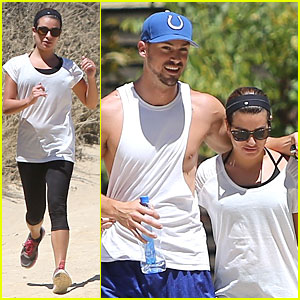 Lea Michele & Matthew Paetz Enjoy Hump Day Hikes in Hollywood