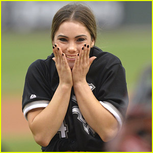 McKayla Maroney Flips Out While Throwing First Pitch at Chicago White Sox Game - See The Video!