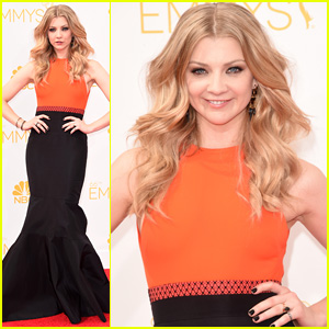 Mockingjay's Natalie Dormer Pairs Orange & Black for Emmys 2014