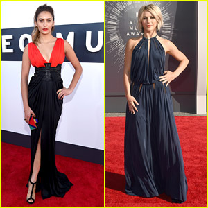 BFFs Nina Dobrev & Julianne Hough Turn Heads at MTV VMAs 2014!