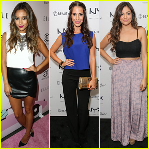 Shay Mitchell & Jessica Lowndes Hit Up BeautyCon L.A. with Bethany Mota!