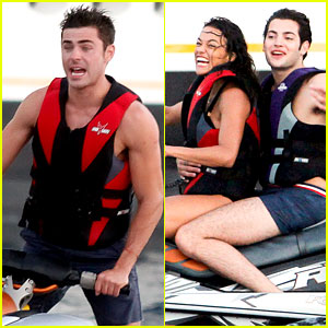 Zac Efron Goes Jet Skiing with Michelle Rodriguez in Spain!