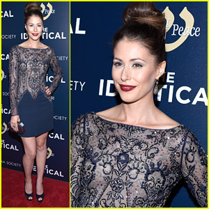 Amanda Crew Sparkles For 'Identical' Premiere In New York City