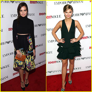 Bailee Madison & Stefanie Scott Are Brunette Beauties at Teen Vogue's Young Hollywood Party 2014!
