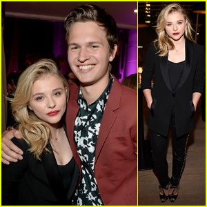 Chloe Moretz Reunites with 'Carrie' Co-Star Ansel Elgort at TIFF Party!