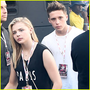 Chloe Moretz Checks Out Made In America with Brooklyn Beckham!